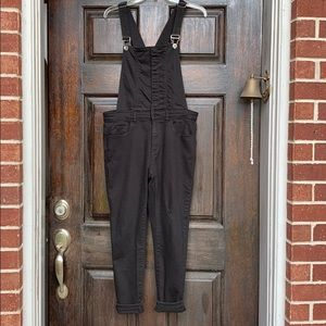 Forever 21 Black Women's Distressed Overalls